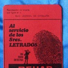 Collectionnisme Papier buvard: PAPEL SECANTE DE BEHAR. AGENCIA DE DETECTIVES PRIVADOS, S/F.. Lote 267173209