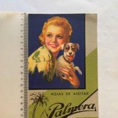 Coleccionismo Papel secante: HOJA DE PAPEL SECANTE. PUBLICIDAD DE HOJAS DE AFEITAR PALMERA.. Lote 270678908