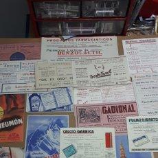 Coleccionismo Papel secante: LOTE 19 SECANTES DE MALAGA GRANADA SEVILLA. Lote 275034268
