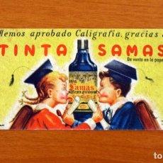 Coleccionismo Papel secante: PAPEL SECANTE - PUBLICIDAD TINTA SAMAS - ARTIGAS - MOD 216-465-3093. Lote 276298138