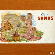 Coleccionismo Papel secante: PAPEL SECANTE - PUBLICIDAD TINTA SAMAS - MOD 743-L-608-SAMAS-510. Lote 276299733