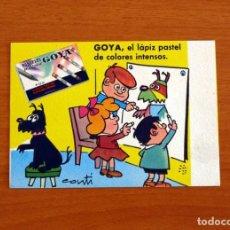 Coleccionismo Papel secante: PAPEL SECANTE - PUBLICIDAD LÁPICES PASTEL GOYA - DIBUJOS DE CONTI. Lote 276360778