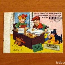 Collectionnisme Papier buvard: PAPEL SECANTE - PUBLICIDAD GOMAS DE BORRAR POLO Y EBRO - DIBUJOS DE CONTI. Lote 276362618
