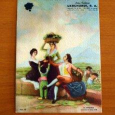 Coleccionismo Papel secante: PAPEL SECANTE - LA VENDIMIA - GOYA - ARTES GRÁFICAS LERCHUNDI S.A. BILBAO - MOD. 158. Lote 276367663
