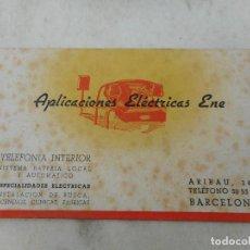 Coleccionismo Papel secante: ANTIGUO PAPEL SECANTE? APLICACIONES ELECTRICAS ENE. TELEFONIA INTERIOR.BARCELONA. Lote 277518188
