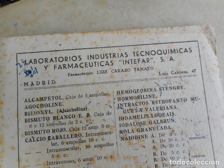 Coleccionismo Papel secante: ANTIGUIO PAPEL SECANTE.LABORATORIOS INTEFAR.S.A JOSE ROVIRA GILBERGA.AGENTE EN BARCELONA. - Foto 2 - 277538928