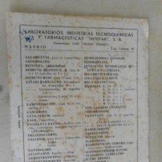 Coleccionismo Papel secante: ANTIGUIO PAPEL SECANTE.LABORATORIOS INTEFAR.S.A JOSE ROVIRA GILBERGA.AGENTE EN BARCELONA.. Lote 277538928