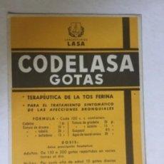 Coleccionismo Papel secante: CODELASA GOTAS SECANTE. Lote 279433638