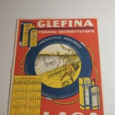 Coleccionismo Papel secante: PAPEL SECANTE LASA GLEFINA CALENDARIO 1932. Lote 286212283