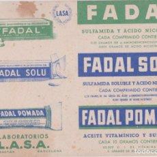 Coleccionismo Papel secante: PAPEL SECANTE FADAL LABORATORIOS LASA – SAN SEBASTIAN – (17X12,2). Lote 287154423