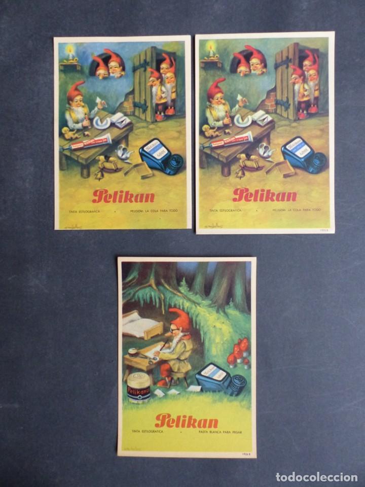 PELIKAN - 3 SECANTES, VER FOTOS ADICIONALES (Coleccionismo - Papel Secante)