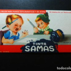 Coleccionismo Papel secante: TINTA SAMAS PAPEL SECANTE. Lote 287440288