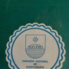 Coleccionismo Papel secante: LUGO PUERTOMARIN PARADOR NACIONAL POSAVASOS VINTAGE. Lote 287784718