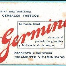 Coleccionismo Papel secante: PAPEL SECANTE. HARINA DEXTRINIZADA DE CEREALES FRESCOS, GERMINASE. SIN FECHA.. Lote 288473018