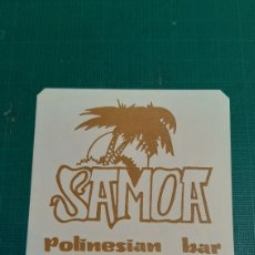 Collezionismo Carta assorbente: LUGO SAMOA POLINESIAN BAR POSAVASOS VINTAGE. Lote 291900858