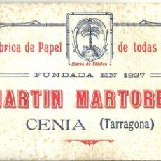 Collezionismo Carta assorbente: 3586.- EL MONTSIÀ-LA SENIA-TARRAGONA-PAPEL SECANTE FABRICA DE PAPEL MARTIN MARTORELL -CENIA-. Lote 292240288
