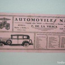 Coleccionismo Papel secante: AUTOMOVILES NASH , CAMIONES REO .. Lote 295336073