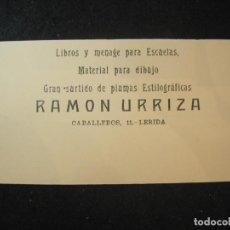 Coleccionismo Papel secante: LLEIDA-RAMON URRIZA-PAPEL SECANTE PUBLICIDAD-VER FOTOS-(K-4412). Lote 295348788