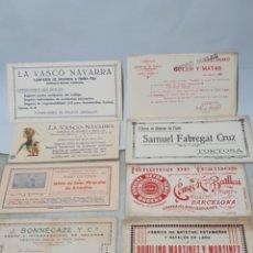 Coleccionismo Papel secante: PAPEL SECANTE. LOTE 8 SECANTES PUBLICIDAD. ARNEDILLO, PRADOLUENGO, LA VASCO NAVARRA. BATLLORI.. Lote 296784733