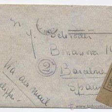 Coleccionismo Papel Varios: SOBRE Y CARTA CON SELLO CENSURA MILITAR DE BARCELONA - CIRCULADO EN 1941 DESDE NEW YORK. Lote 30620946