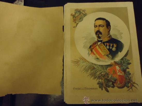 34 X 24 CM ANTIGUA LITOGRAFIA, CONDE DE VALDASEDA , LIT. FELIPE GONZALEZ ROJAS, EDITOR (Coleccionismo en Papel - Varios)
