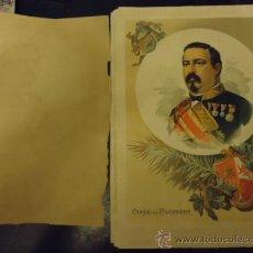 Coleccionismo Papel Varios: 34 X 24 CM ANTIGUA LITOGRAFIA, CONDE DE VALDASEDA , LIT. FELIPE GONZALEZ ROJAS, EDITOR. Lote 35576658