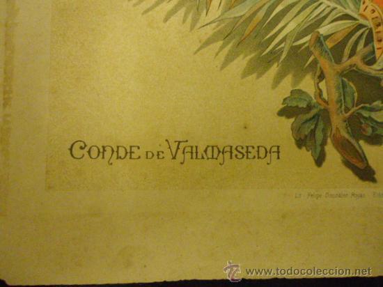 Coleccionismo Papel Varios: 34 x 24 cm antigua litografia, conde de valdaseda , lit. felipe gonzalez rojas, editor - Foto 2 - 35576658