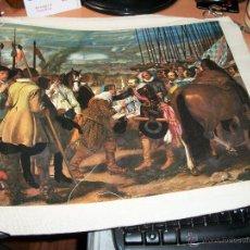 Coleccionismo Papel Varios: REPRODUCCIÓN DEL CUADRO DE LAS LANZAS DE VELÁZQUEZ.. Lote 42567012