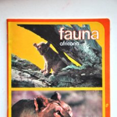 Coleccionismo Papel Varios: CUADERNO. LIBRETA ESCOLAR FAUNA AFRICANA. 80S. Lote 43909847