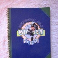 Coleccionismo Papel Varios: CUADERNO LIBRETA TAMAÑO CUARTILLA MICKEY HOLLYWOOD STAR. DISNEY. AMBAR.AÑOS 90.NUEVO. Lote 68134913