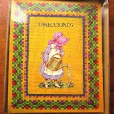Coleccionismo Papel Varios: AGENDA LIBRETA DE DIRECCIONES. HOLLY HOBBIE. DIS2 AÑOS 80. [NUEVA]. Lote 69573461