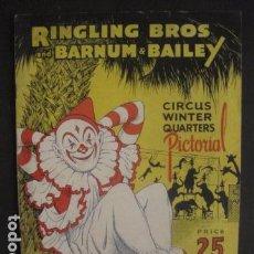 Coleccionismo Papel Varios: CIRCO - RINGLING BROS BARNUM BAILEY - -VER FOTOS-(V-10.055). Lote 80759762