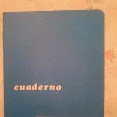 Coleccionismo Papel Varios: LIBRETA ESCOLAR AZUL - A RAYAS -AÑOS 80 -SIN USAR. Lote 81042732