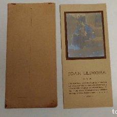 Coleccionismo Papel Varios: JOAN LLIMONA B.S.M. INVITACIÓN DE EXPOSICIÓN. 1914 BARCELONA. Lote 81280180