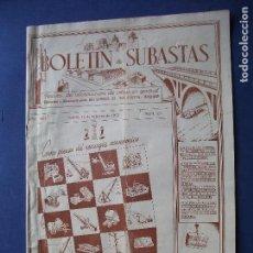 Coleccionismo Papel Varios: BOLETIN DE SUBASTAS MAQUINARIA PARA MINAS Y OBRAS PRECIO 300PTAS/AÑO.Nº 523 1955 PDELUXE. Lote 81555736