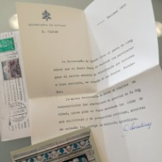 Coleccionismo Papel Varios: POSTAL Y CARTA DE FELICITACION Y AGRADECIMIENTO DE PARTE DEL PAPA PABLO VI 1970 .. Lote 81743498