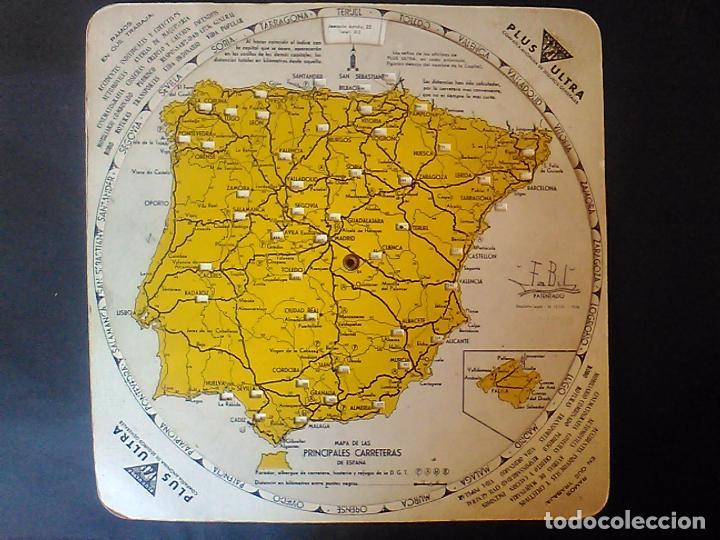 Paradores De España Mapa.Publicidad Seguros Plus Ultra Disco Kilometrico Mapa Carreteras Espana Paradores Refugios Hosteria