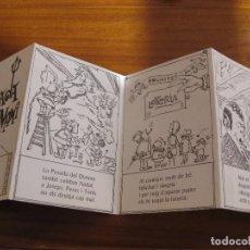 Coleccionismo Papel Varios: AUCA DE LA POSADA DEL DIMONI ANTIGUO RESTAURANTE BARCELONA . FELICITACION SORTEO . ILUST SERRACANT . Lote 82927132