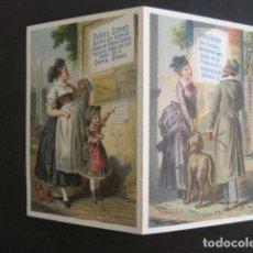 Coleccionismo Papel Varios: PERFUMERIA -PUBLICIDAD DIPTICO - POLVOS SIMON JABON CREMA - SIGLO XIX -VER FOTOS -(V-10.557). Lote 83161588