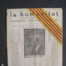 Coleccionismo Papel Varios: LA HUMANITAT- EXILI - CLANDESTINITAT - 1945 -II EPOCA -ESQUERRA REPUBLICANA -VEURE FOTOS-(V-10.569). Lote 83168516