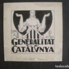 Coleccionismo Papel Varios: GENERALITAT DE CATALUNYA-PROJECTE ORIGINAL SIGNAT ALBERT AYMAMI ORIGINAL-VEURE FOTOS-(V-10.571). Lote 83169796