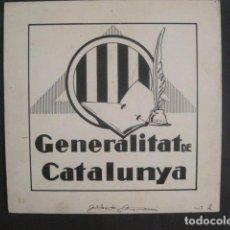 Coleccionismo Papel Varios: GENERALITAT DE CATALUNYA-PROJECTE ORIGINAL SIGNAT ALBERT AYMAMI ORIGINAL-VEURE FOTOS-(V-10.572). Lote 83169888