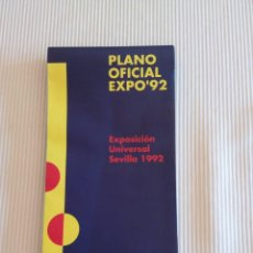 Coleccionismo Papel Varios: PLANO OFICIAL EXPO'92 SEVILLA EXPO 92. Lote 83205312