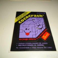 Coleccionismo Papel Varios: CAJ-35 PEGATINA COCOCRASH. Lote 83672192