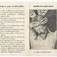 Sammelleidenschaft Andere Papierartikel - RECUERDO DE LA SANTA MISION. - 83682476