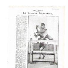 Coleccionismo Papel Varios: AÑO 1929 ATLETISMO JOSE SEGURADO 110 VALLAS EQUIPO REGIMIENTO DE MALLORCA VUELTA A PIE VALENCIA. Lote 83843240