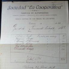 Coleccionismo Papel Varios: DOCUMENTO O FACTURA DE LA PRISION CENTRAL DE VALENCIA DE SAN MIGUEL DE LOS REYES.1929. ALFONSO XIII.. Lote 84576892