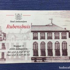 Coleccionismo Papel Varios: ENTRADA CASA DE RUBENS EN AMBERES (MUSEO). Lote 84912880
