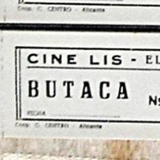 Coleccionismo Papel Varios: ENTRADA ANTIGUO CINE LIS DE ELDA ( ALICANTE ). Lote 84929104
