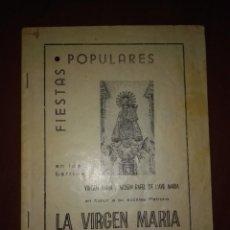 Coleccionismo Papel Varios: REVISTA DE FIESTAS LA VIRGEN MARIA ALCOY 1974. Lote 85635412